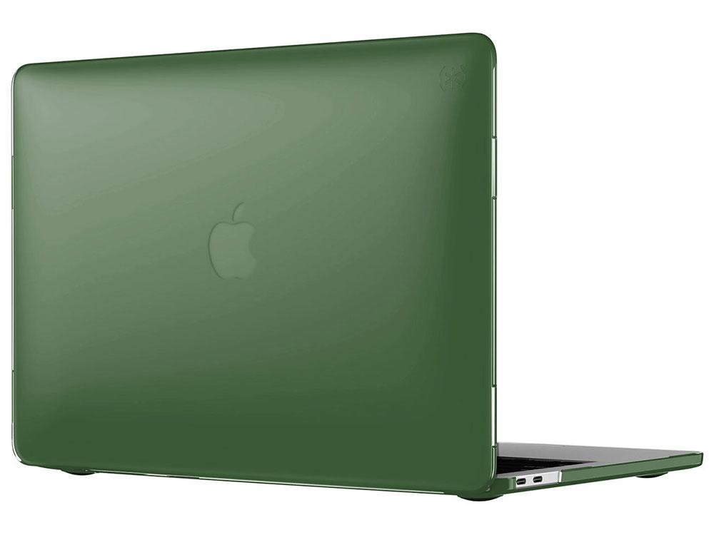 Чехол Speck SmartShell для MacBook Pro 2016 13 с TouchBar и без. Материал пластик. Цвет темно-зелен аксессуар чехол macbook pro 13 speck seethru pink spk a2729
