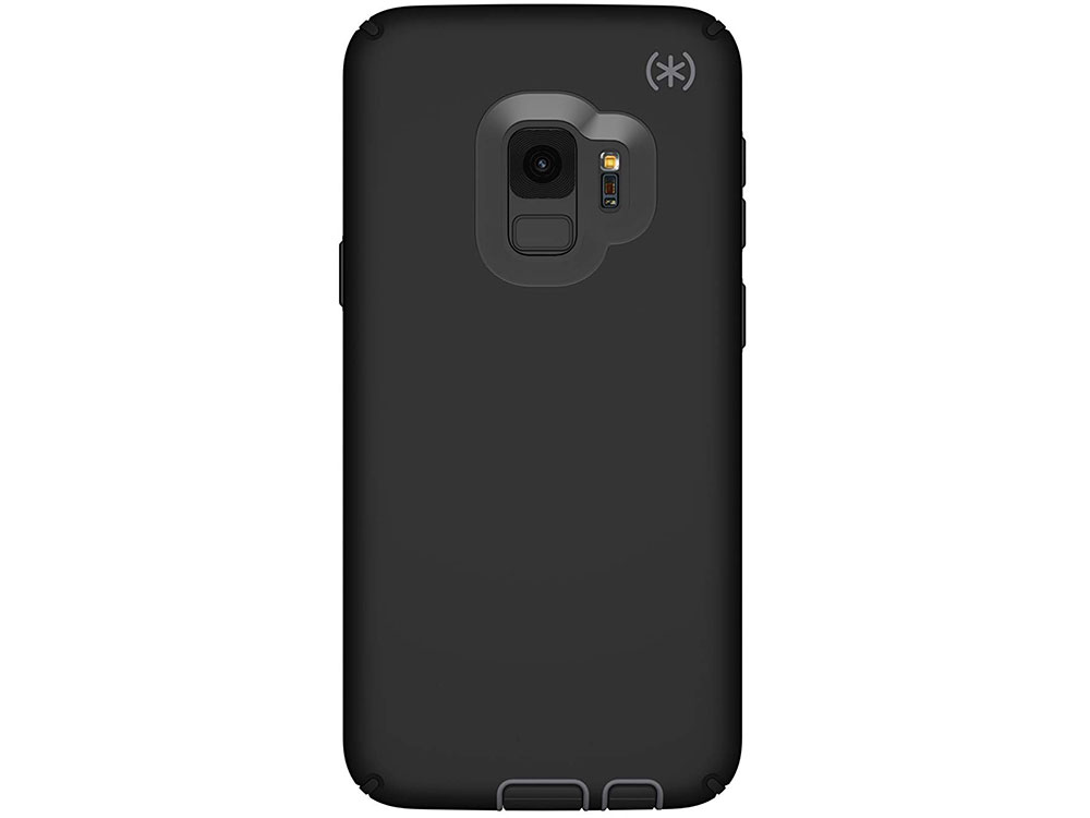 Чехол-накладка Speck Presidio Sport для Samsung Galaxy S9 Материал пластик. Цвет черный/серый аксессуар чехол macbook pro 13 speck seethru pink spk a2729