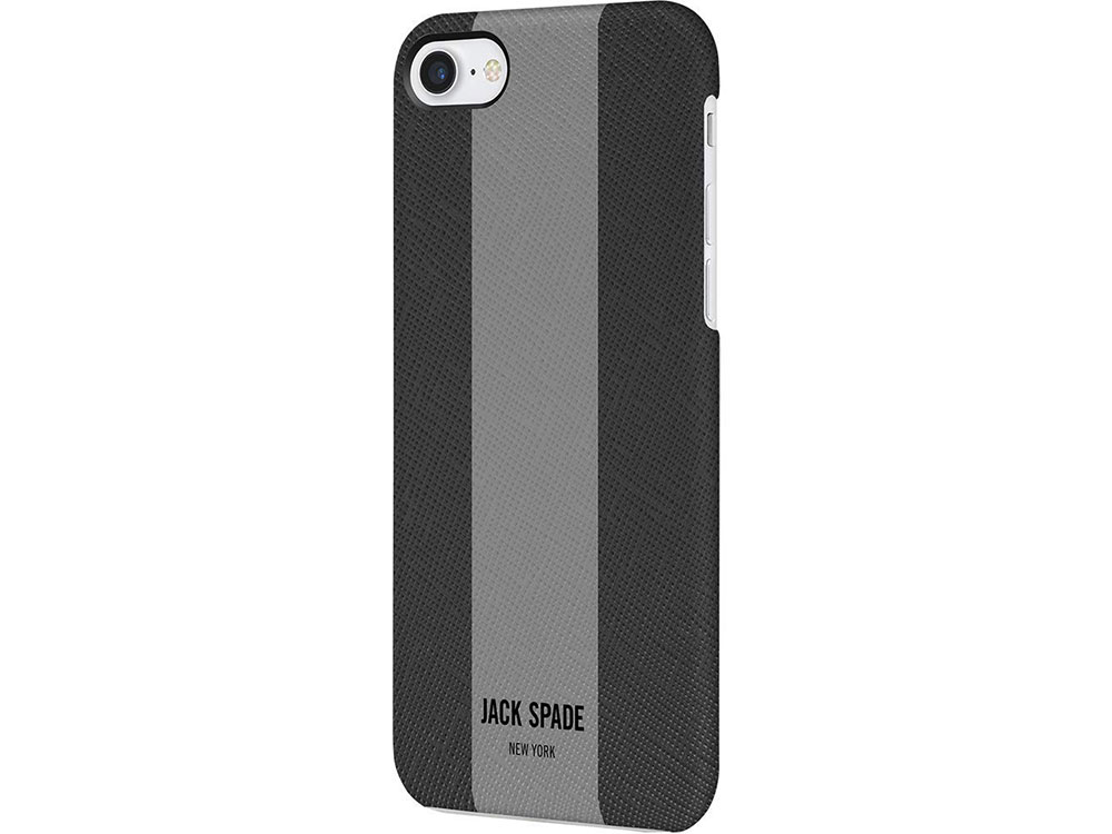 Чехол Jack Spade Snap Case для iPhone 7. Материал пластик. Цвет черный/серый. 360 degree rotating protective litchi pattern case w stand for google nexus 7 ii chocolate