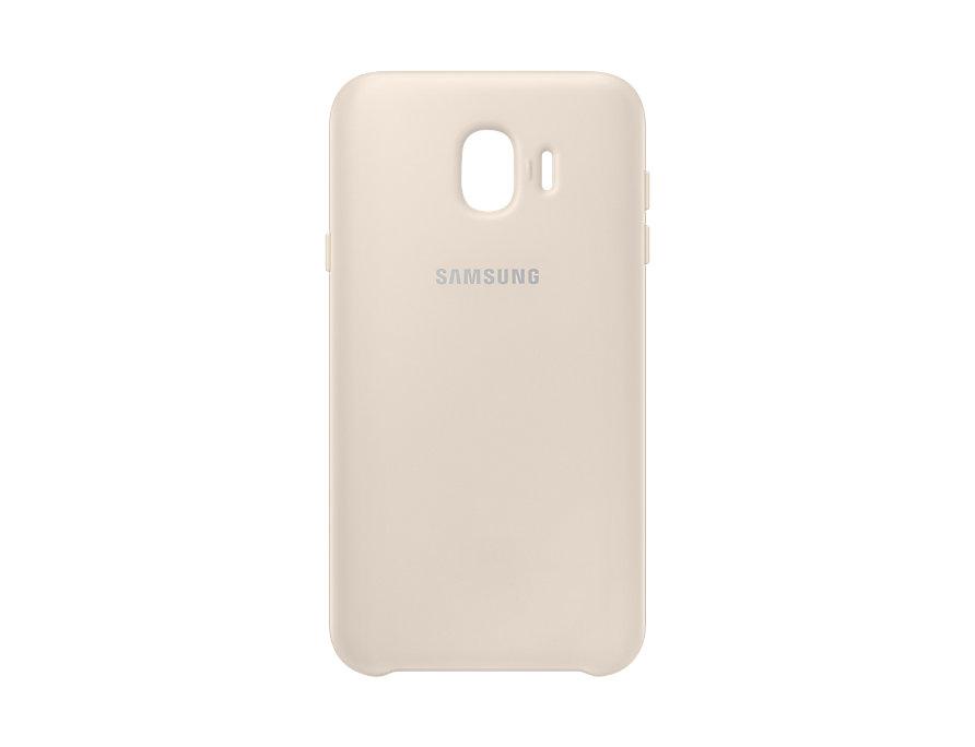 Чехол (клип-кейс) Samsung для Samsung Galaxy J4 (2018) Dual Layer Cover золотистый (EF-PJ400CFEGRU) чехол клип кейс samsung silicone cover для samsung galaxy s8 фиолетовый [ef pg955tvegru]