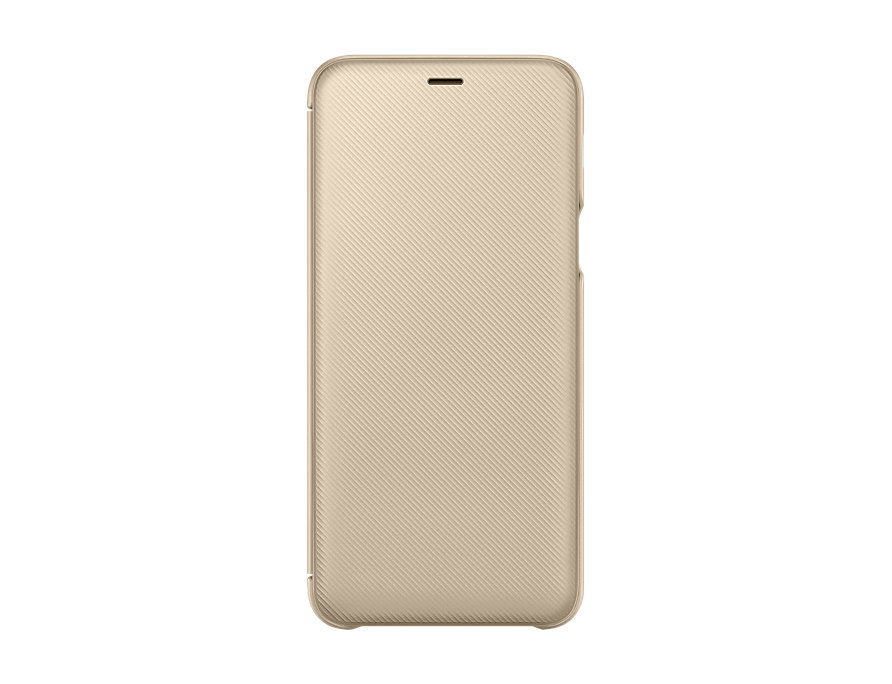 Чехол-книжка для Samsung Galaxy A6+ 2018  Wallet Cover Gold флип, полиуретан, поликарбонат