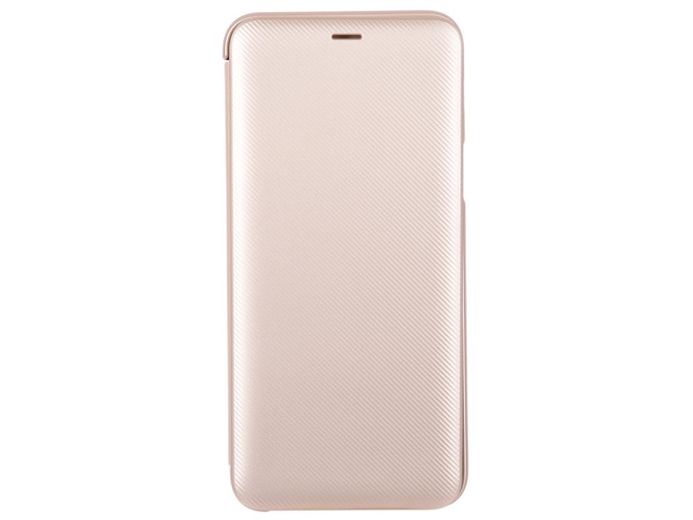 Чехол-книжка для Samsung Galaxy A6+ 2018  Wallet Cover Gold флип, полиуретан, поликарбонат