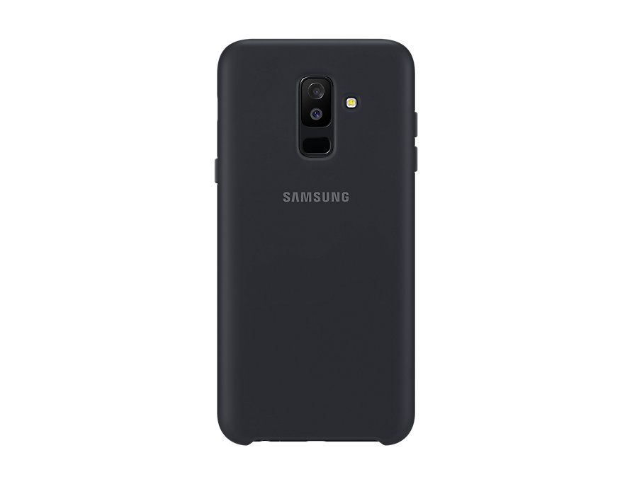 Чехол (клип-кейс) Samsung для  Galaxy A6+ (2018) Dual Layer Cover черный (EF-PA605CBEGRU)