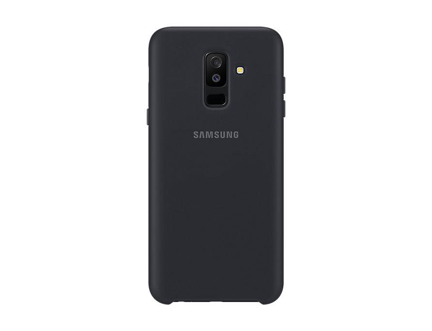 Чехол (клип-кейс) Samsung для Samsung Galaxy A6+ (2018) Dual Layer Cover черный (EF-PA605CBEGRU) чехол клип кейс samsung silicone cover для samsung galaxy s8 фиолетовый [ef pg955tvegru]