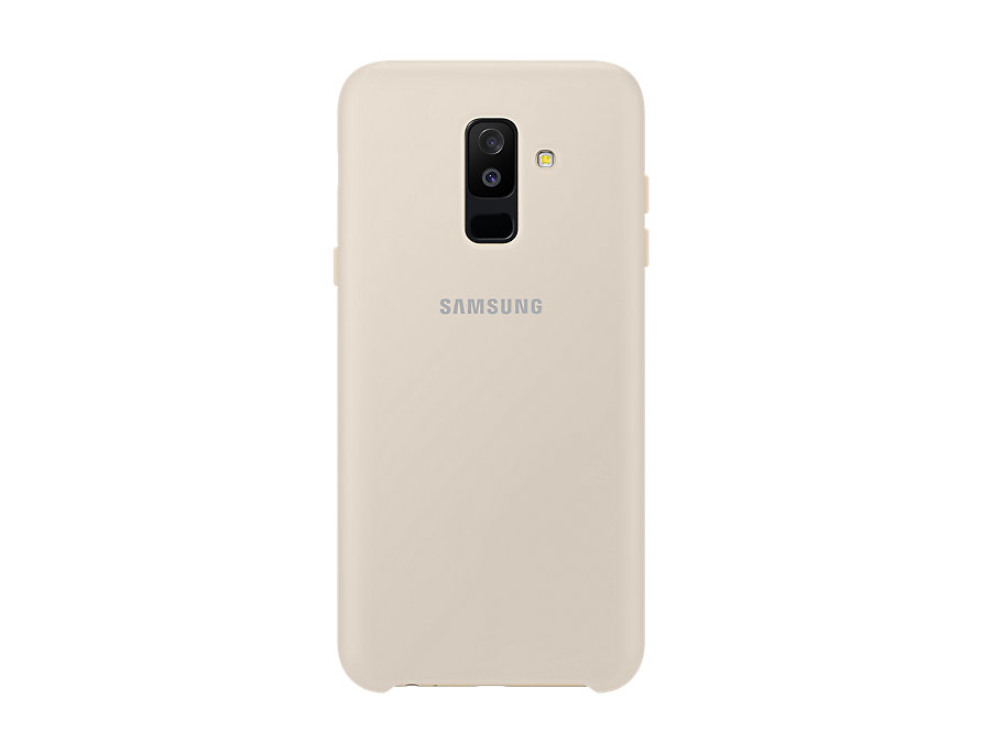 Чехол (клип-кейс) Samsung для Samsung Galaxy A6+ (2018) Dual Layer Cover золотистый (EF-PA605CFEGRU) чехол клип кейс samsung silicone cover для samsung galaxy s8 фиолетовый [ef pg955tvegru]