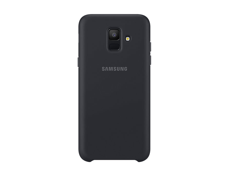 Чехол (клип-кейс) Samsung для Samsung Galaxy A6 (2018) Dual Layer Cover черный (EF-PA600CBEGRU) аксессуар чехол samsung galaxy a6 2018 dual layer cover black ef pa600cbegru