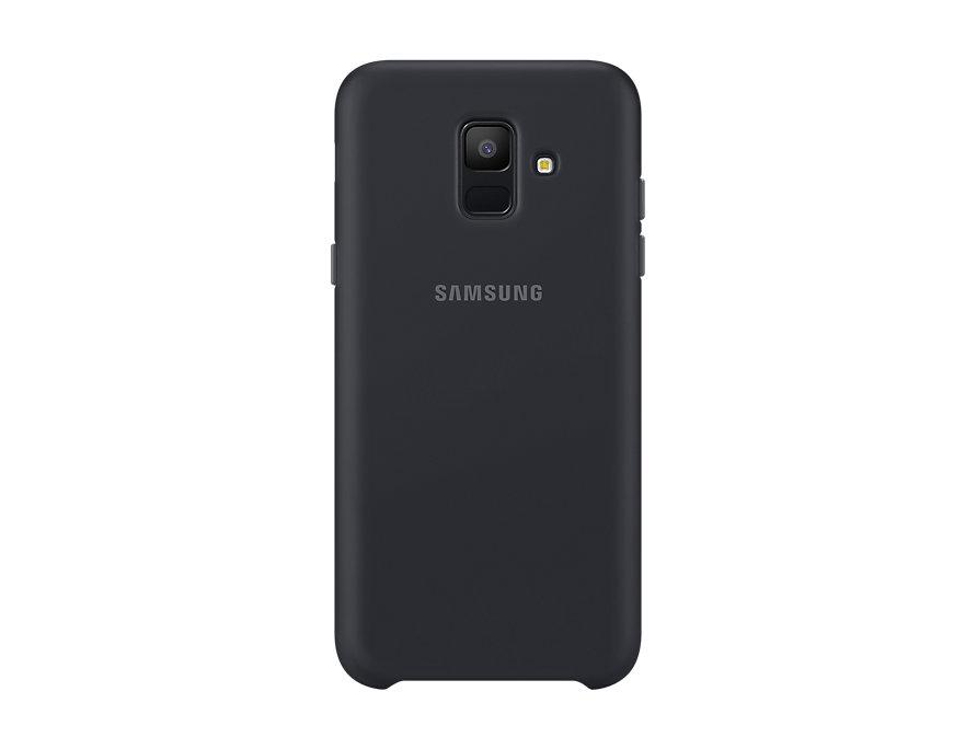 Чехол (клип-кейс) Samsung для  Galaxy A6 (2018) Dual Layer Cover черный (EF-PA600CBEGRU)