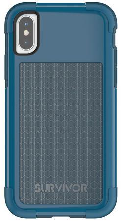 купить Накладка Griffin Survivor Fit для iPhone X синий голубой TA43982 по цене 902 рублей