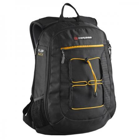 Фото - Рюкзак с отделением для ноутбука CARIBEE Flip Back 26 л черный 6451 contrast lace keyhole back blouse