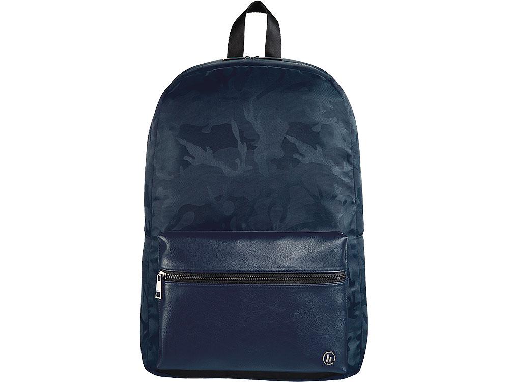 Рюкзак для ноутбука 15.6 Hama Mission Camo синий/камуфляж полиэстер (00101844) рюкзак hama sweet owl pink blue