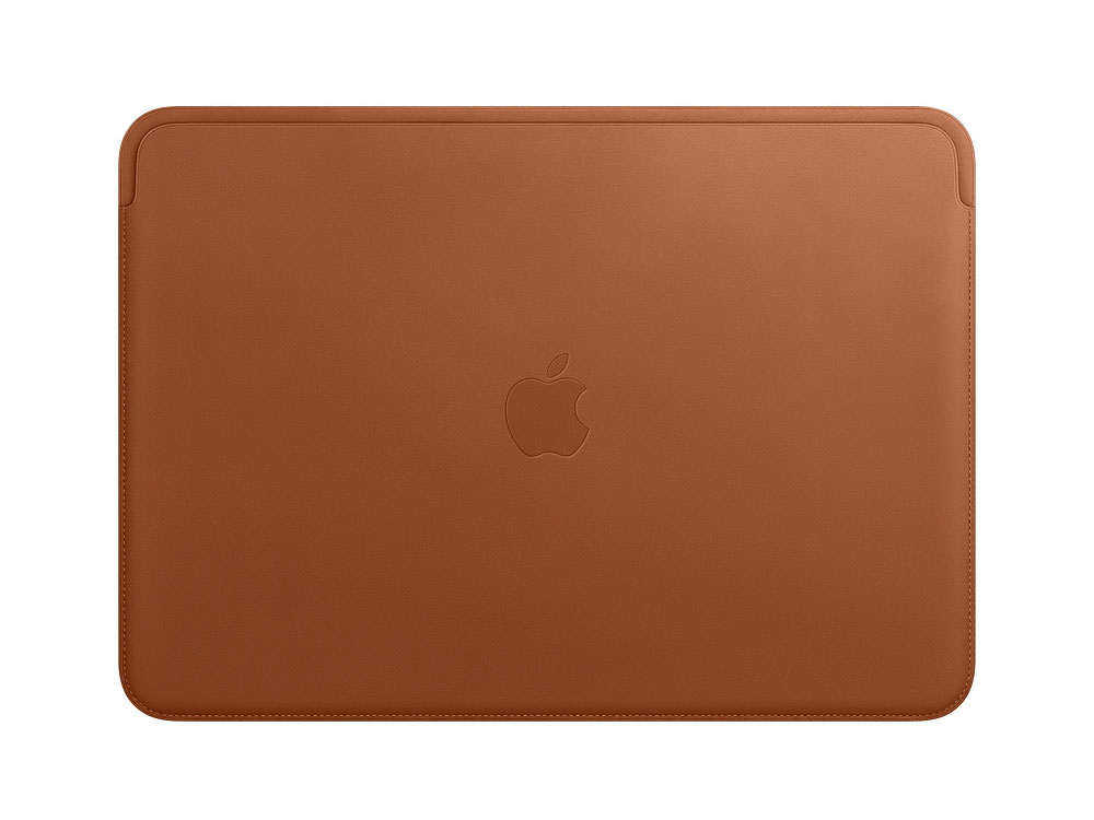 Leather Sleeve for 13-inch MacBook Pro – Saddle Brown