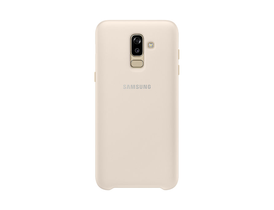 Чехол-накладка для Samsung Galaxy J8 2018 Samsung Dual Layer Cover Gold клип-кейс, полиуретан, поликарбонат цена и фото