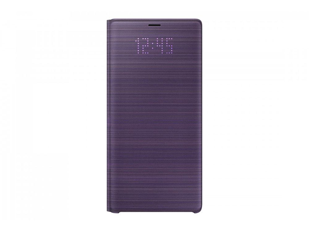 Чехол (флип-кейс) Samsung для Samsung Galaxy Note 9 LED View Cover фиолетовый (EF-NN960PVEGRU) чехол флип кейс samsung note 9 n 960 leatherwallet black ef wn 960 lbegru