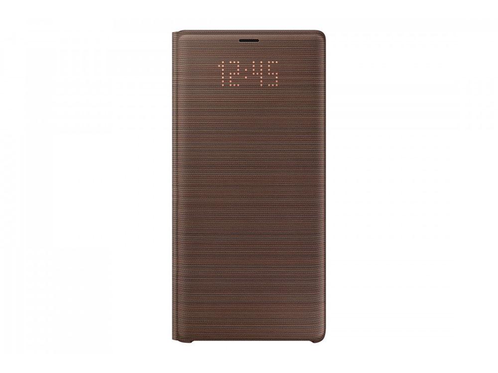 Чехол (флип-кейс) Samsung для Samsung Galaxy Note 9 LED View Cover коричневый (EF-NN960PAEGRU)