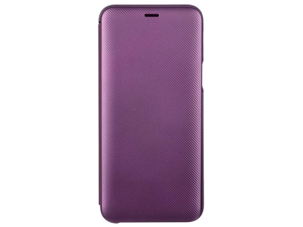 Чехол-накладка для Samsung Galaxy J6 Samsung Wallet Cover Magenta флип, полиуретан, поликарбонат чехол накладка для samsung galaxy j8 samsung dual layer cover black клип кейс полиуретан поликарбонат