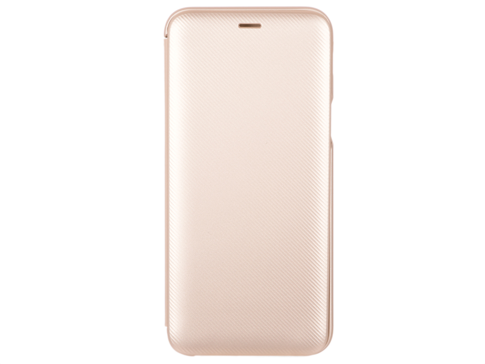 Чехол-обложка для Galaxy A6 (2018) Samsung EF-WA600CFEGRU Gold для Galaxy A6 (2018) флип, полиуретан, поликарбонат mooncase для samsung galaxy j7 кожаный чехол folio флип открытки с kickstand wallet защитный чехол обложка no a03