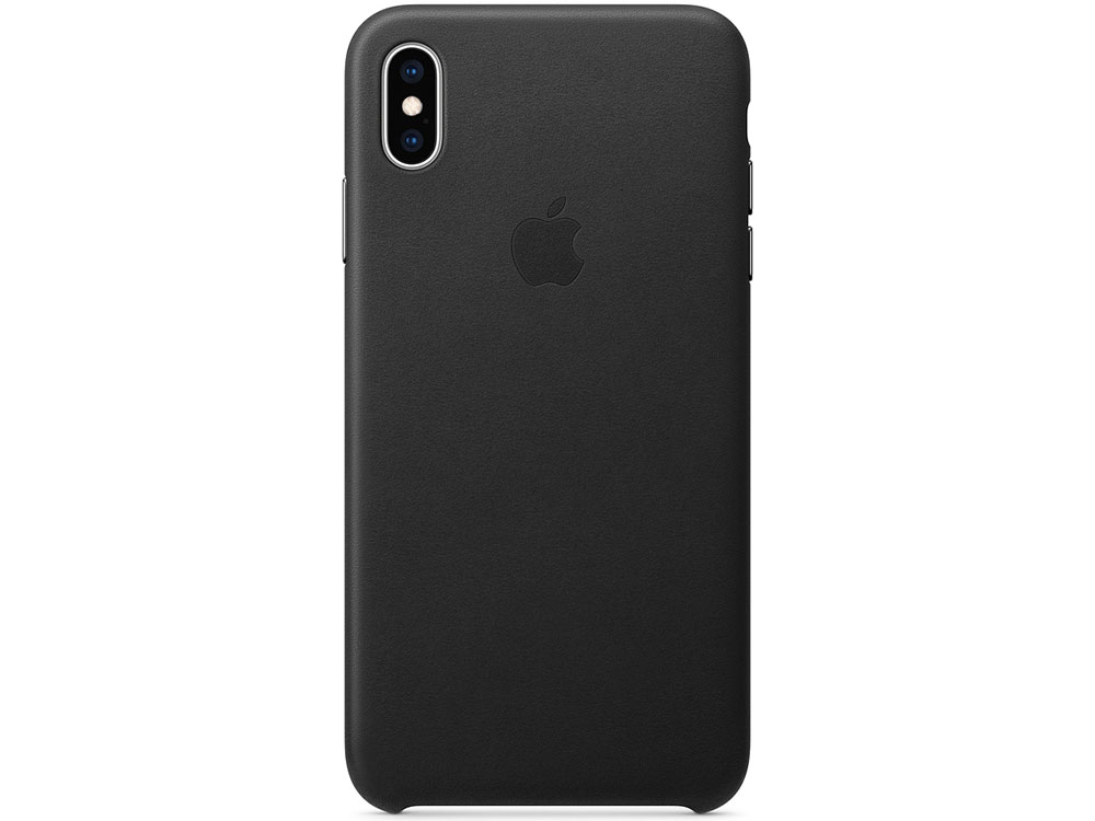 iPhone XS Max Leather Case - Black apple leather case mkxf2zm a black