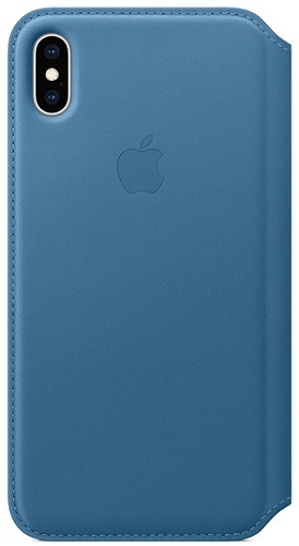 Чехол-книжка для iPhone XS Max Leather Folio - Cape Cod Blue флип, кожа new 2 fold folio pu leather stand cover case for onda v10 3g 4g call phone 10 1inch tablet pc black and white color gift