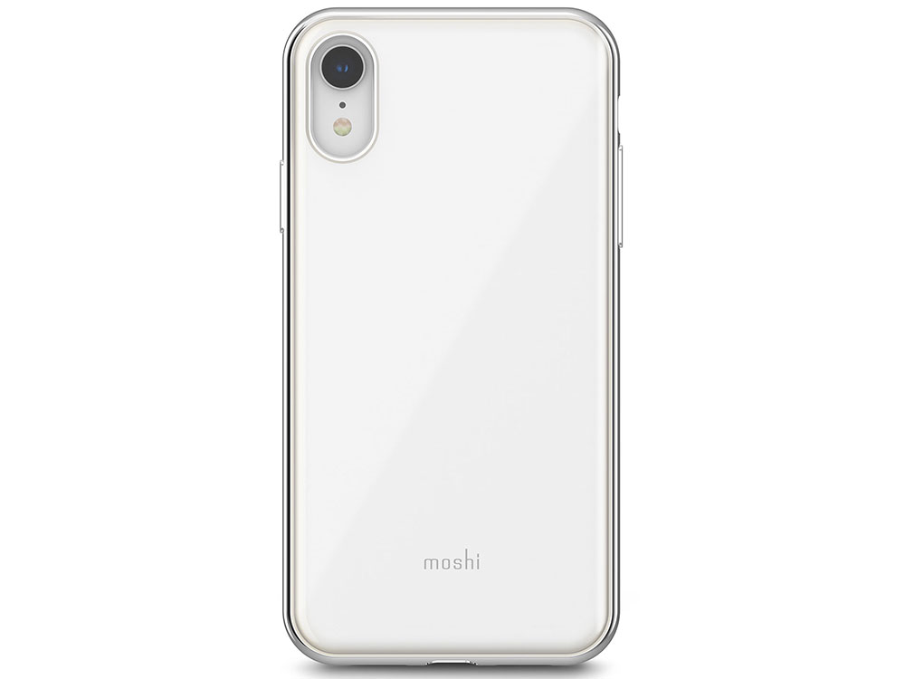 Чехол-накладка для iPhone XR Moshi iGlaze White клип-кейс, пластик чехол накладка для iphone 7 plus slim iq format white клип кейс пластик