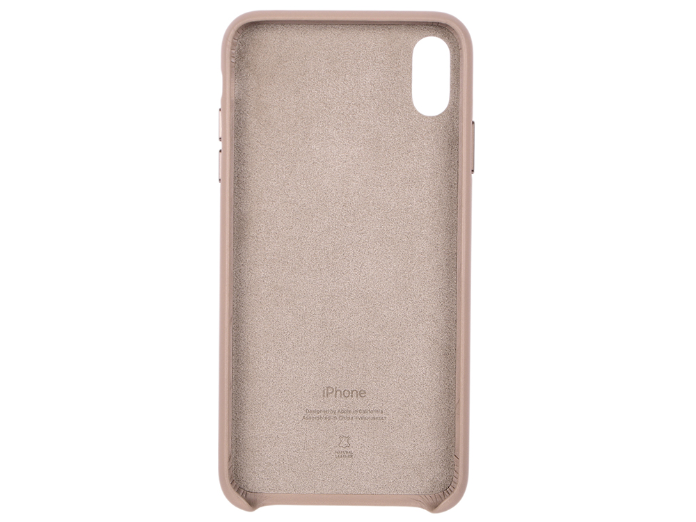 Чехол-накладка для iPhone XS Max Apple Leather Case - Taupe MRWR2ZM/A клип-кейс, кожа клип кейс guess silicone для apple iphone xs max черный