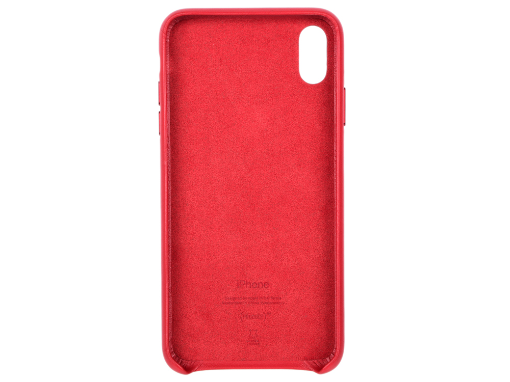 Чехол-накладка для iPhone XS Max Leather Case -PRODUCTRED MRWQ2ZM/A Red клип-кейс, кожа клип кейс guess silicone для apple iphone xs max черный