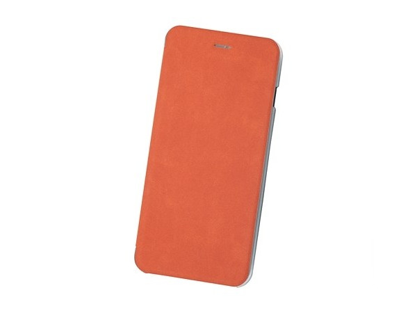 Чехол-книжка для IPhone 6+/7+/8+ BoraSCO Book Case Orange флип, экозамша, пластик чехол флип кейс hama smart case nubuck для iphone 6 чёрный 00135021