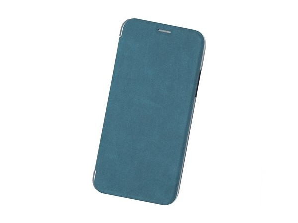 Чехол Book Case для IPhone X/ Xs, экозамша, сине-зеленый, BoraSCO цена
