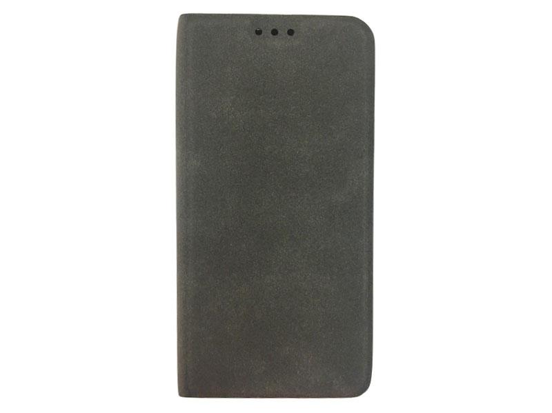 Чехол-книжка для Samsung Galaxy A6 BoraSCO Book Case Grey флип, экозамша, силикон чехол крышка skinbox diamond для samsung galaxy a6 2018 черный