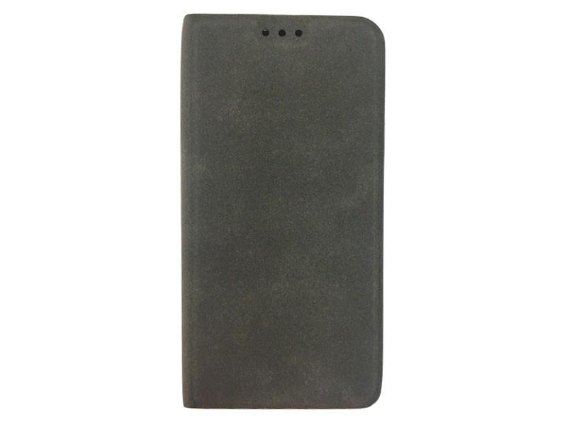 Чехол-книжка для Samsung Galaxy A8 BoraSCO Book Case Gray флип, искусственная кожа, пластик