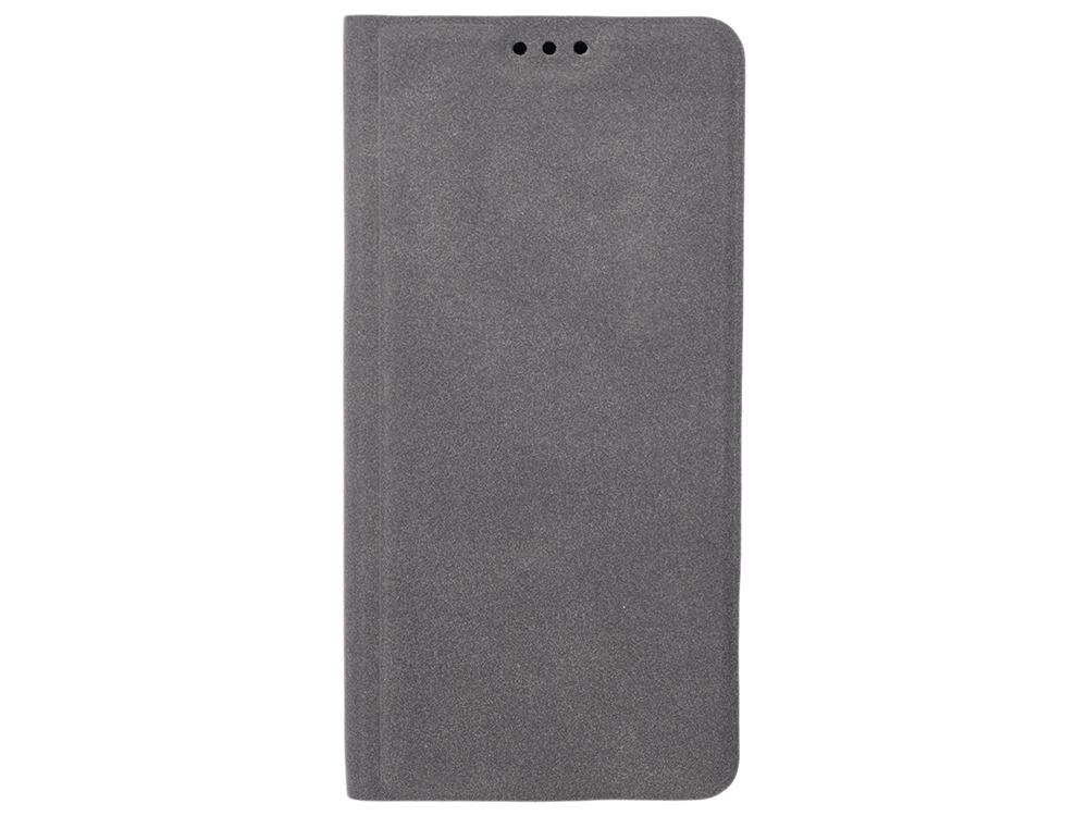 Чехол-книжка для Samsung Galaxy J6 BoraSCO Book Case Gray флип, искусственная кожа, силикон
