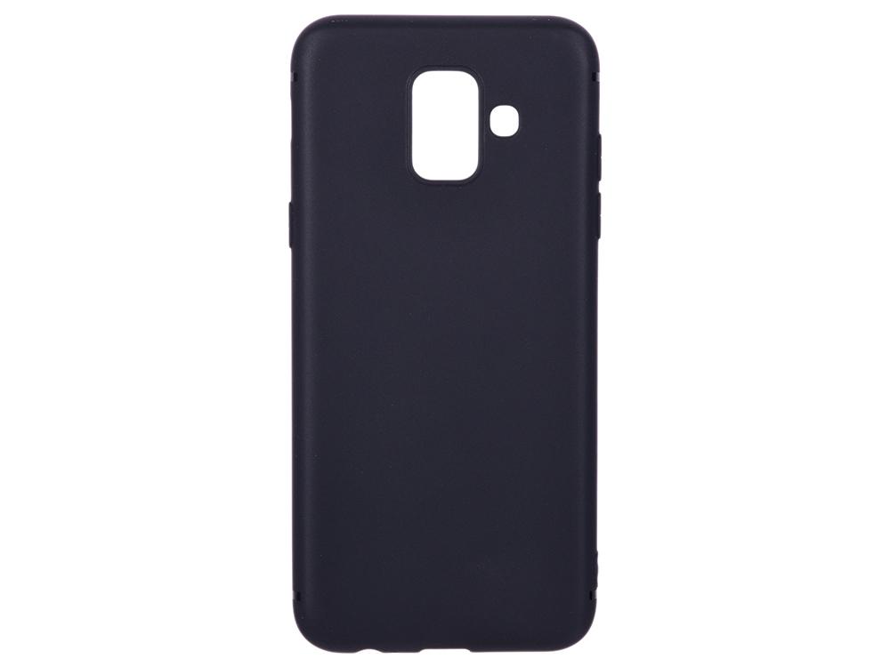 Чехол для Samsung Galaxy A6 BoraSCO Mate Black поликарбонат чехол крышка skinbox diamond для samsung galaxy a6 2018 черный