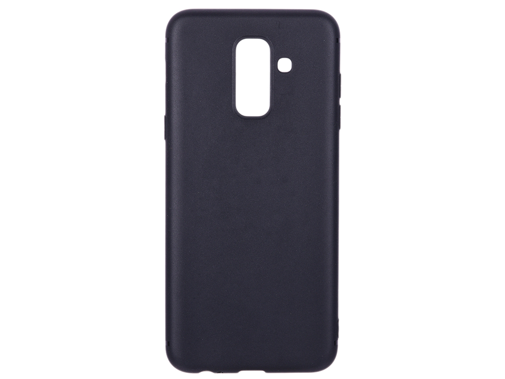 Чехол-накладка для Samsung Galaxy A6+ BoraSCO Mate Black клип-кейс, силикон чехол крышка skinbox diamond для samsung galaxy a6 2018 черный