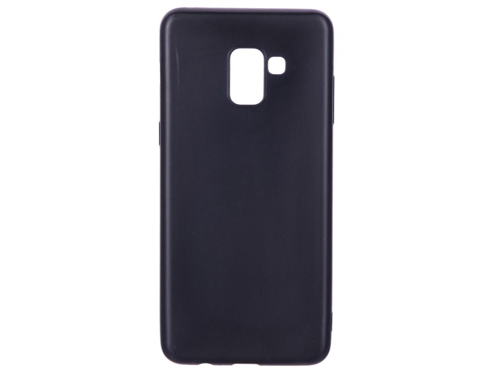 Чехол для Samsung Galaxy A8+ BoraSCO Mate Black клип-кейс, силикон gangxun blackview a8 max корпус высокого качества кожа pu флип чехол kickstand anti shock кошелек для blackview a8 max