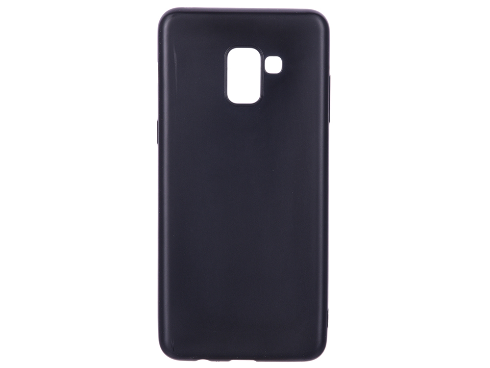 Чехол для Samsung Galaxy A8+ BoraSCO Mate Black клип-кейс, силикон цена и фото