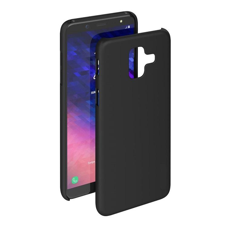 Чехол-накладка для Samsung Galaxy J6 BoraSCO Mate Black клип-кейс, силикон пластиковая накладка borasco 0 5 мм для samsung galaxy s7 g930 прозрачная