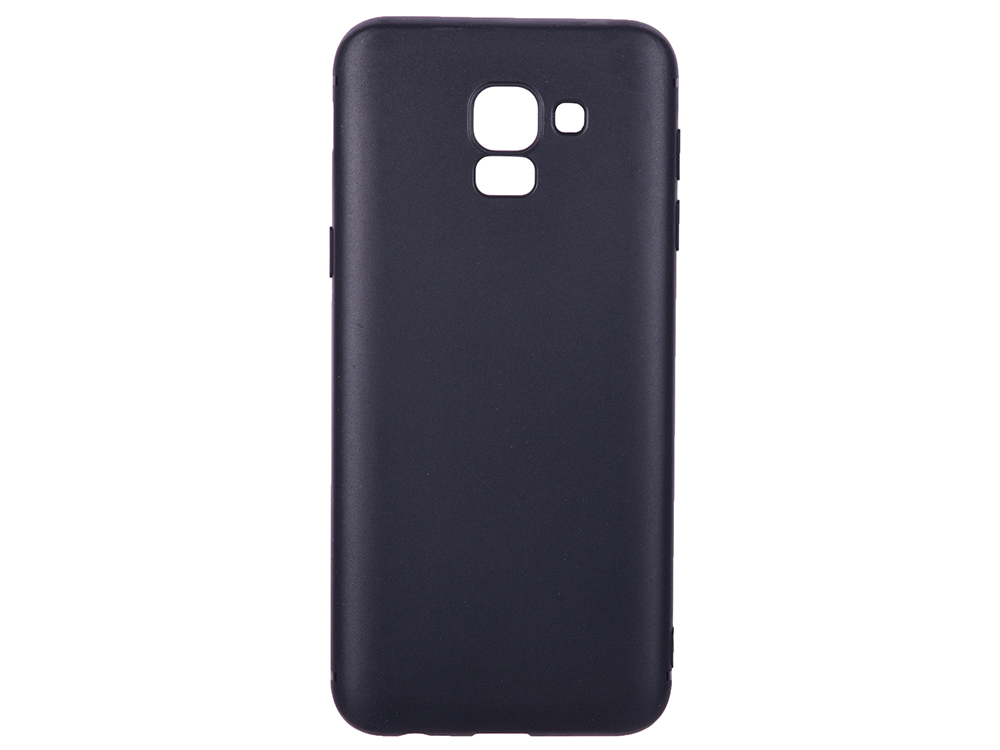 цена на Чехол-накладка для Samsung Galaxy J6 BoraSCO Mate Black клип-кейс, силикон