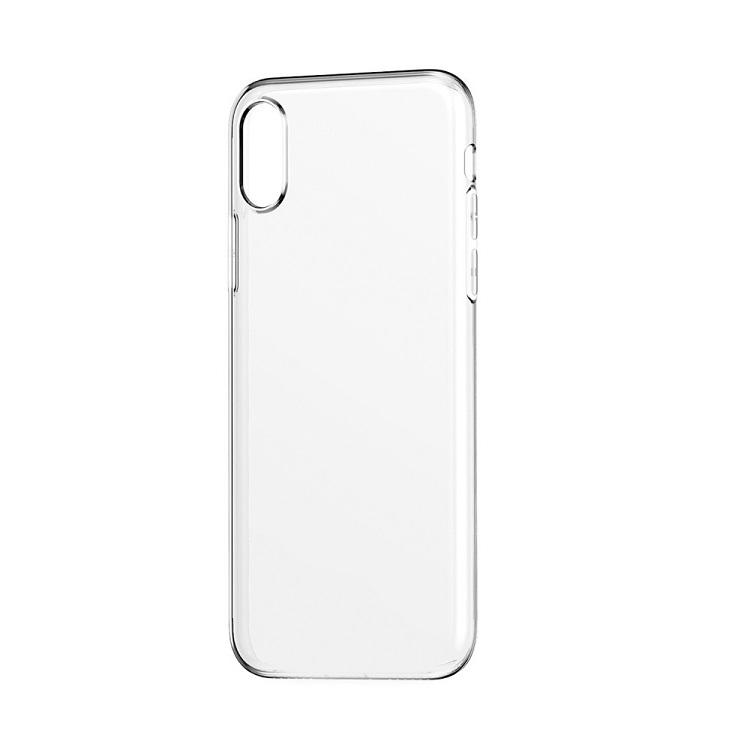 Чехол-накладка для Apple iPhone X/ Xs BoraSCO клип-кейс, прозрачный силикон