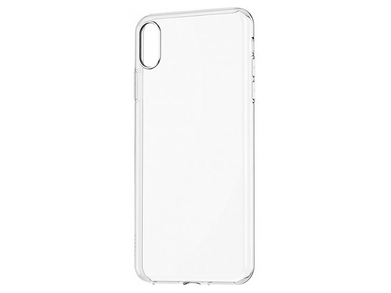 Чехол-накладка для Apple iPhone Xs Max BoraSCO клип-кейс, прозрачный силикон клип кейс uniq lumence clear для apple iphone xs max розовое золото
