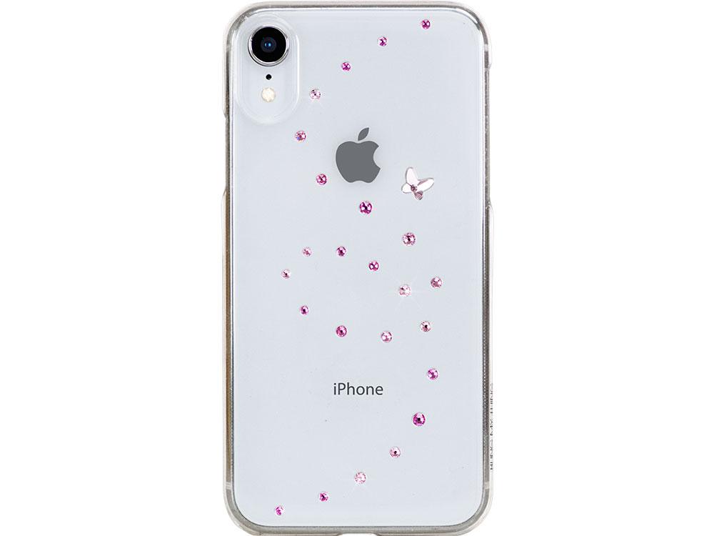 Чехол Bling My Thing для iPhone XR с кристаллами Swarovski. Коллекция Papillon. Дизайн Rose Sparkles