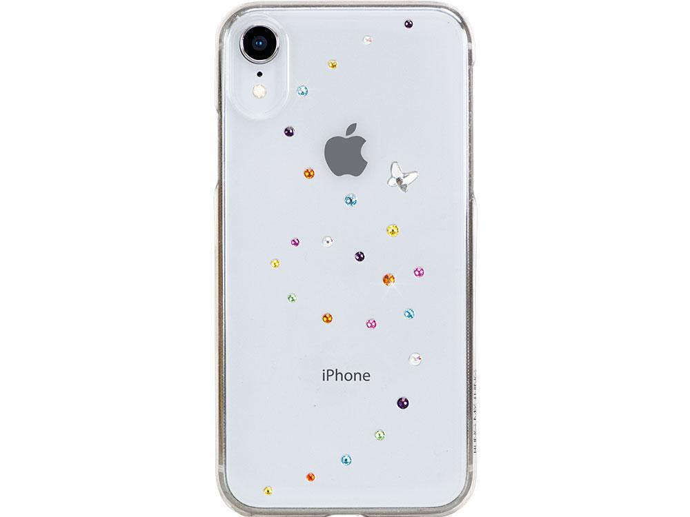 Чехол Bling My Thing для iPhone XR с кристаллами Swarovski. Коллекция Papillon. Дизайн Cotton Candy.
