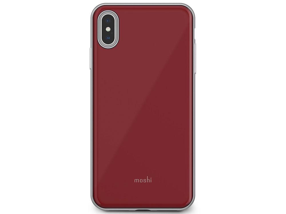 Чехол Moshi iGlaze для iPhone XS Max. Материал пластик. Цвет красный. аксессуар чехол для apple iphone x xs moshi iglaze armour black 99mo101001