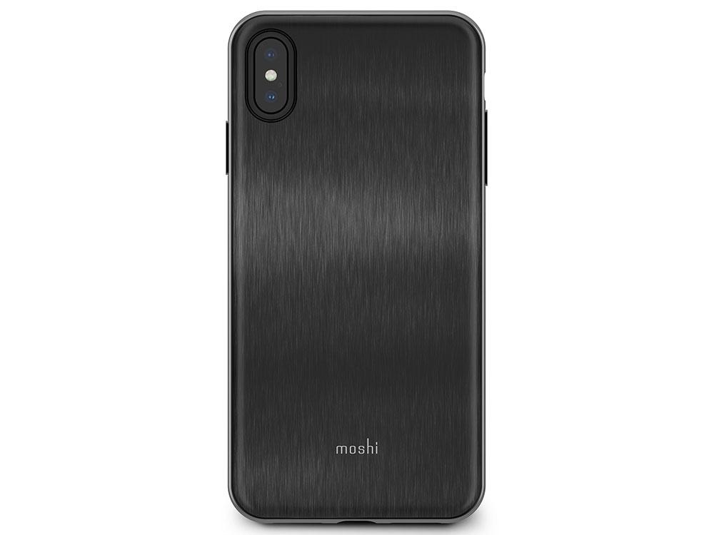Чехол Moshi iGlaze для iPhone XS Max. Материал пластик. Цвет черный. аксессуар чехол для apple iphone x xs moshi iglaze armour black 99mo101001