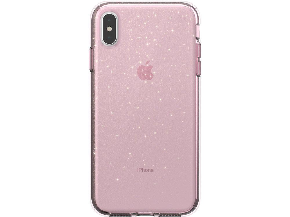 Чехол Speck Presidio Clear + Glitter для iPhone XS Max. Материал пластик. Цвет прозрачный/розовый. gangxun blackview a8 max корпус высокого качества кожа pu флип чехол kickstand anti shock кошелек для blackview a8 max
