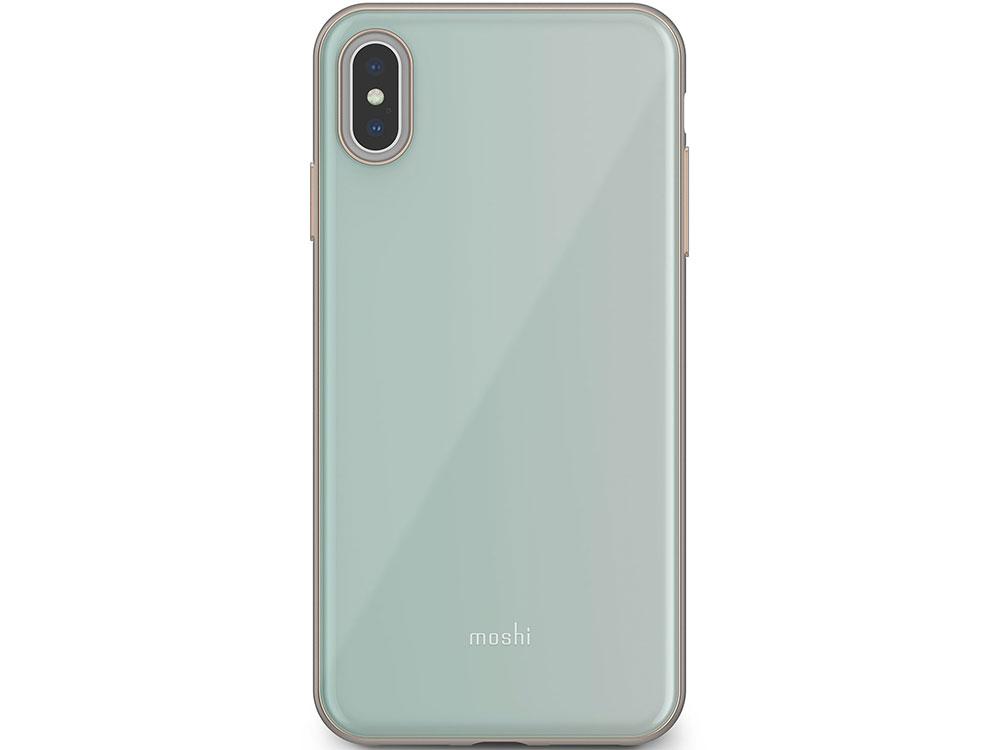 Чехол Moshi iGlaze для iPhone XS Max. Материал пластик. Цвет синий. аксессуар чехол для apple iphone x xs moshi iglaze armour black 99mo101001