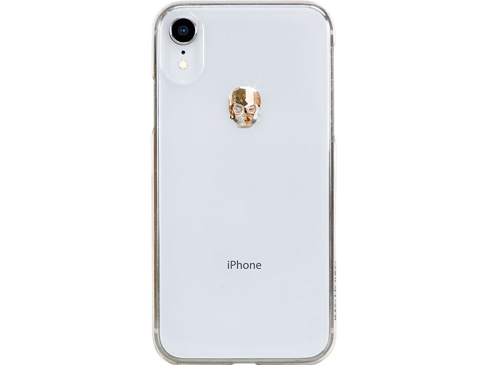 Чехол Bling My Thing для iPhone XR с кристаллами Swarovski. Коллекция Treasure. Дизайн Gold Skull. Ц