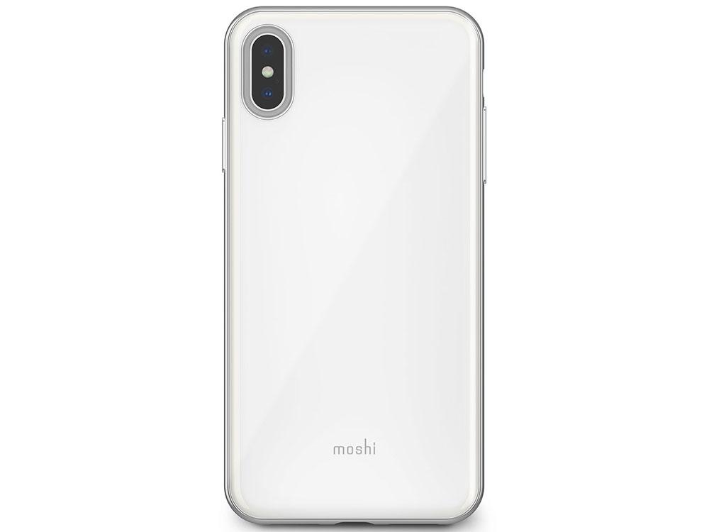 Чехол Moshi iGlaze для iPhone XS Max. Материал пластик. Цвет жемчужно-белый. аксессуар чехол для apple iphone x xs moshi iglaze armour black 99mo101001