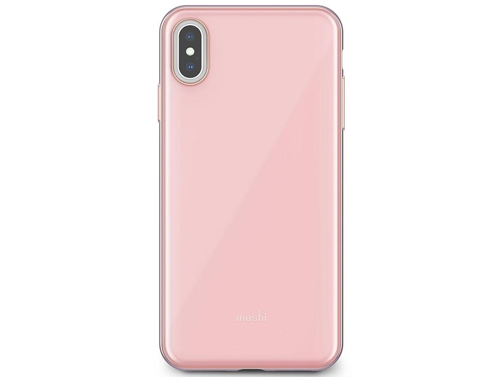 Чехол Moshi iGlaze для iPhone XS Max. Материал пластик. Цвет розовый. аксессуар чехол для apple iphone x xs moshi iglaze armour black 99mo101001