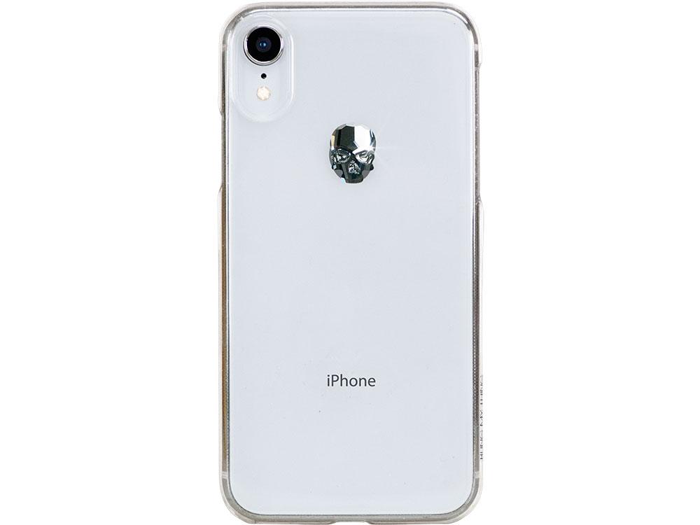 Чехол Bling My Thing для iPhone XR с кристаллами Swarovski. Коллекция Treasure. Дизайн Silver Skull.
