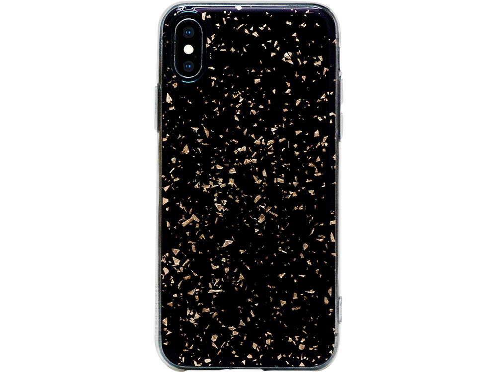Чехол Bling My Thing для iPhone XS/X. Коллекция Chic Collection. Дизайн Gold Galaxy. Материал пласти
