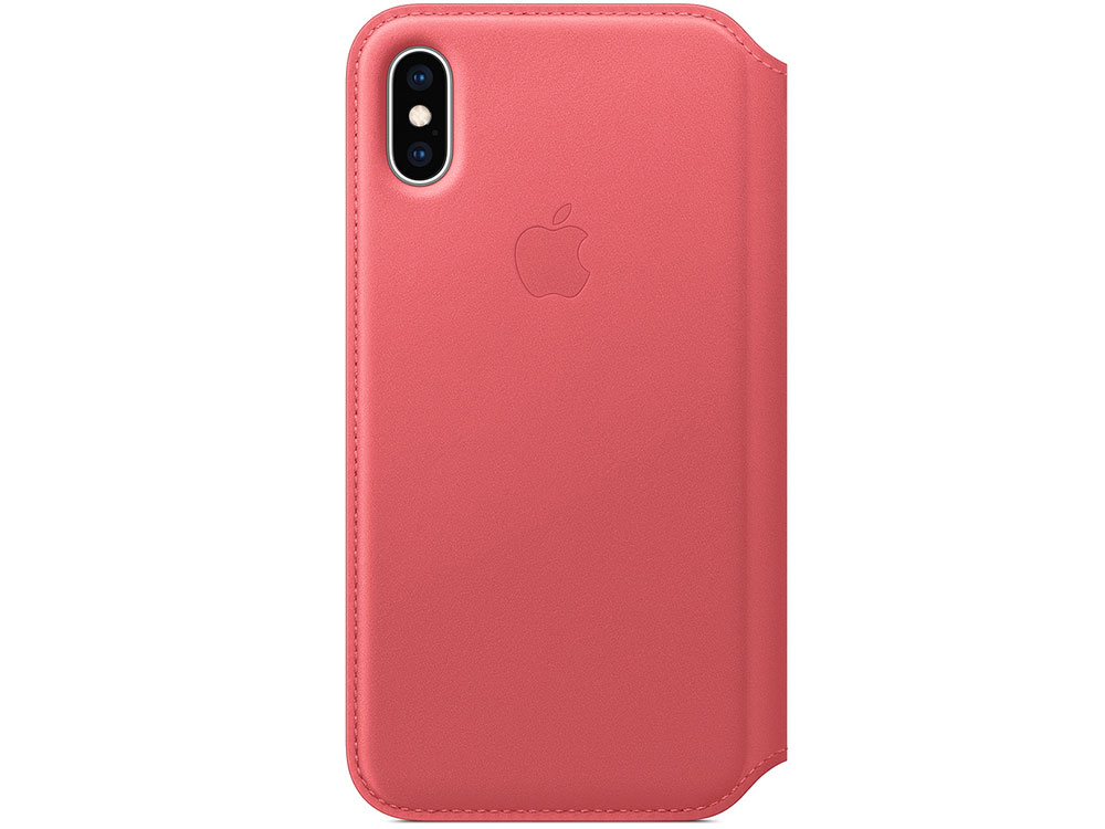 iPhone XS Leather Folio - Peony Pink цена